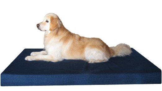 Heavy Duty Extra Large Orthopedic Memory Foam Waterproof Pet Bed + Free Bonus Case