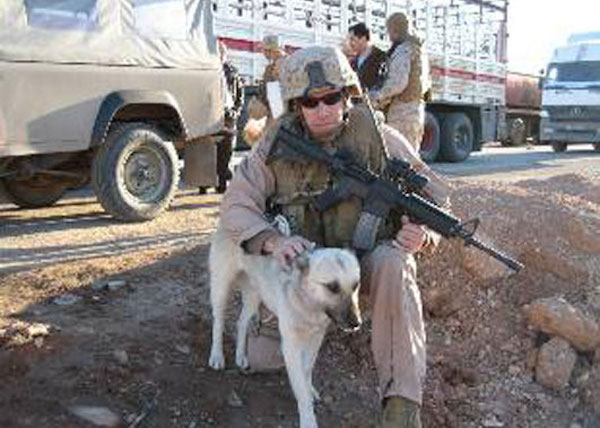 Amazing Tails - The Dog that travelled 70 miles through a warzone to be with his Marine best friend 3